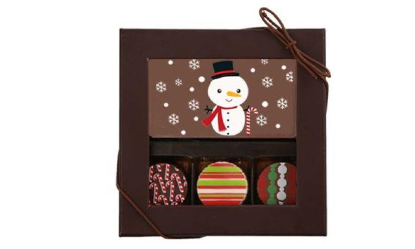 Snowman - 3 Truffles & a Chocolate Card