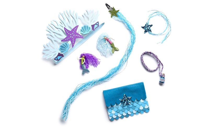 I Love Mermaids Kit - Swimming Designs display