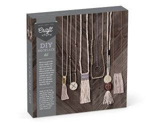 diy necklace kit bead and feather em