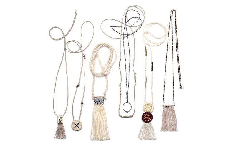 Many beaded necklaces