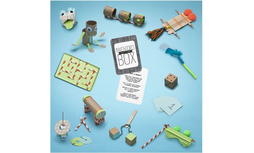 Inventor's Box Creative Challenges display