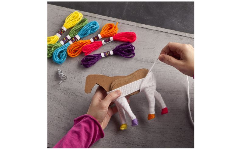 Creating a yarn unicorn