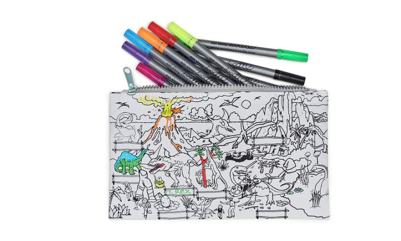 Color Prehistoric Pencil Case