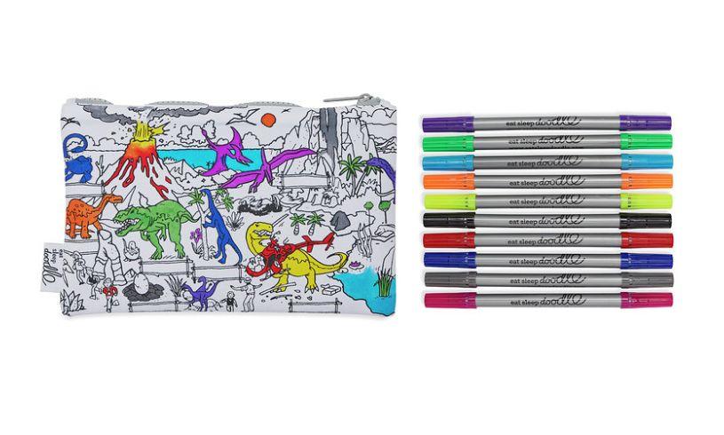 color your own prehistoric pencilcase brilliant childrens presents