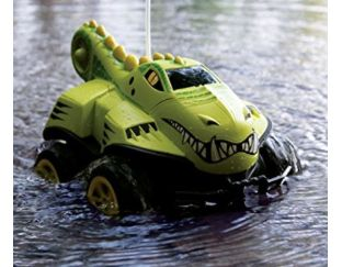 Amphibious remote control crocodile car