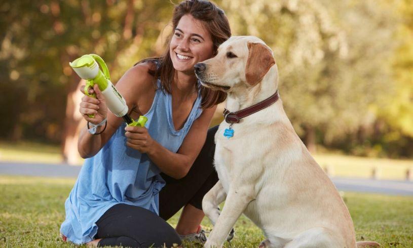 'Dog Gone Tennis Ball Blaster' dog