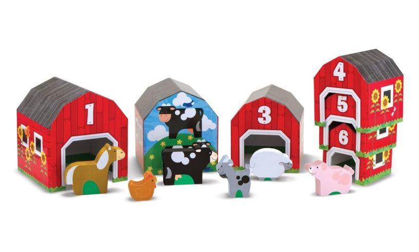 Melissa & Doug Nesting & Sorting Barns and Animals
