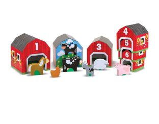 Melissa & Doug Nesting & Sorting Barns and Animals