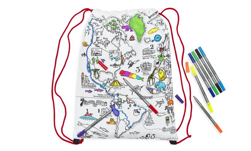 World Map Back Pack