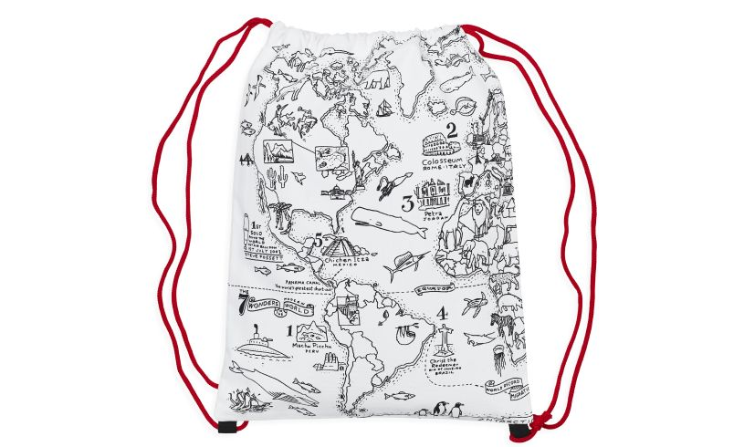 World Map Back Pack Blank