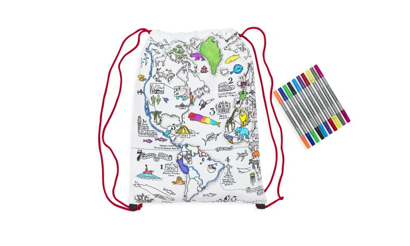 World Map Back Pack Spill