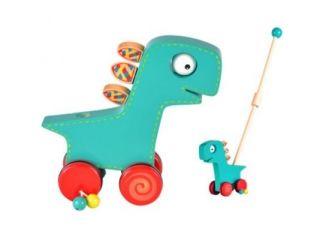 Fiesta Crafts Dinosaur Push & Roll