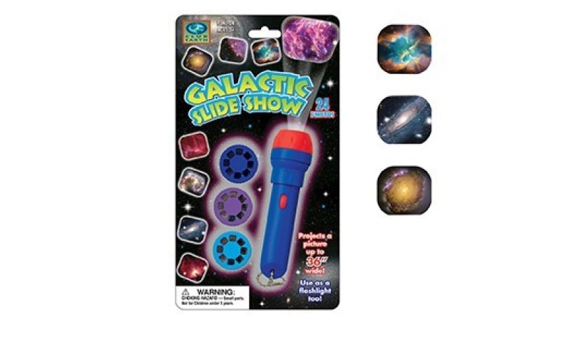 Galactic  slide show flashlight