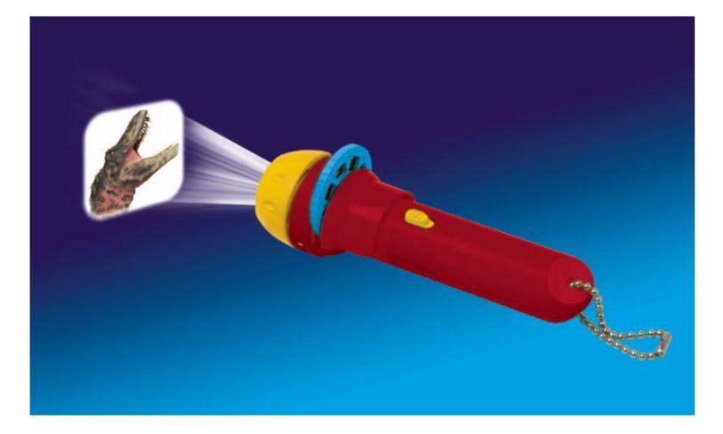 Dinosaur slide show flashlight