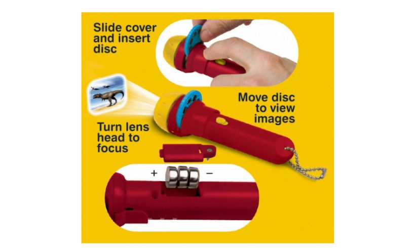 directions for slides and flashlight