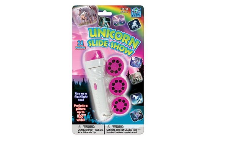 Unicorn slide show flashlight