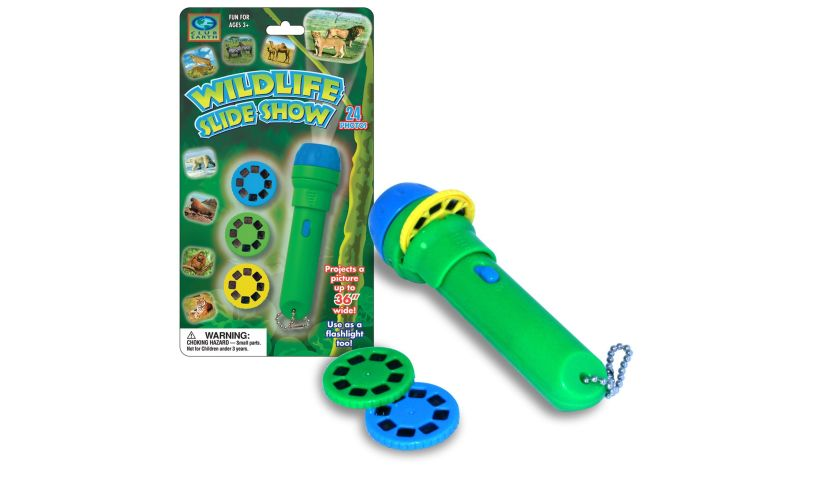 Wildlife slide show flashlight