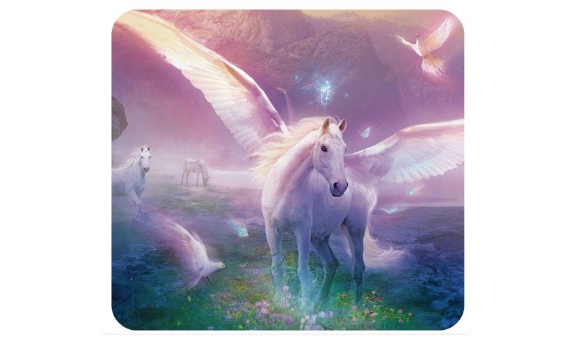 close up of slide unicorn