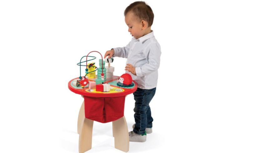 boy with activity table