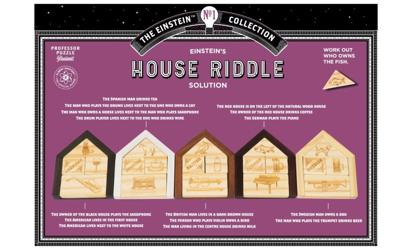 Einstein's House Riddle - Find A Fish?' back
