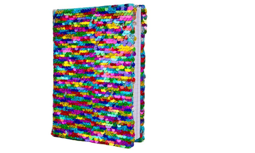 multi colored sequin journal