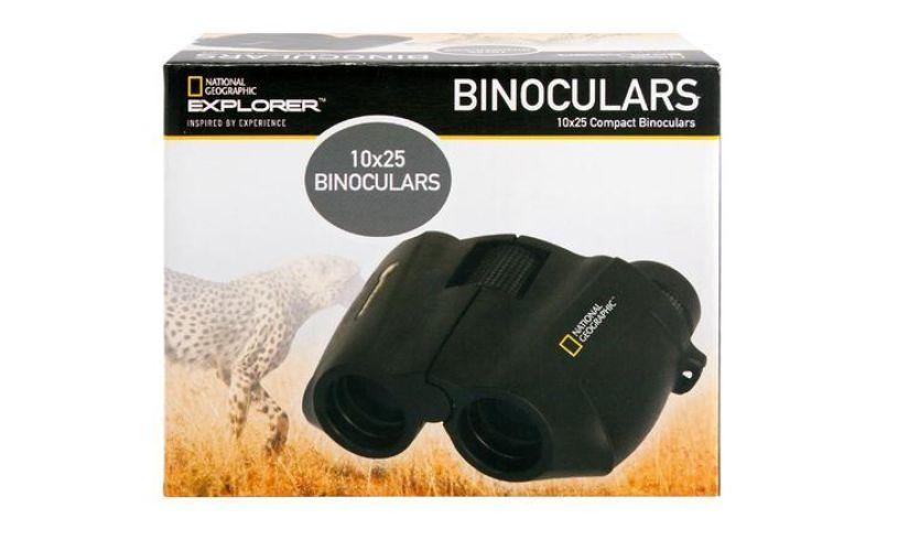 box with National Geographic binoculars