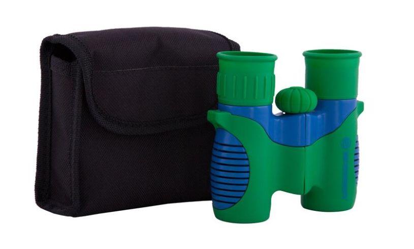 case and binoculars