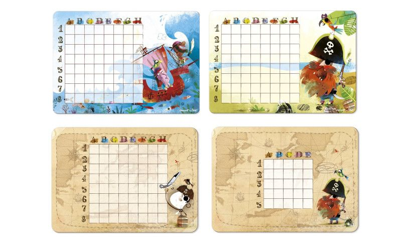 pirates battleship 4 player cards