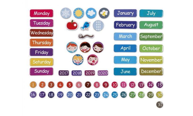 magnetic calendar contents