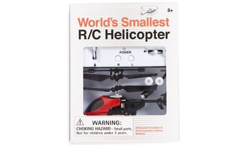 World's Smallest R/C Helicopter Box