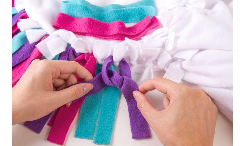 Unicorn Hoodie Blanket - Make Your Own hands