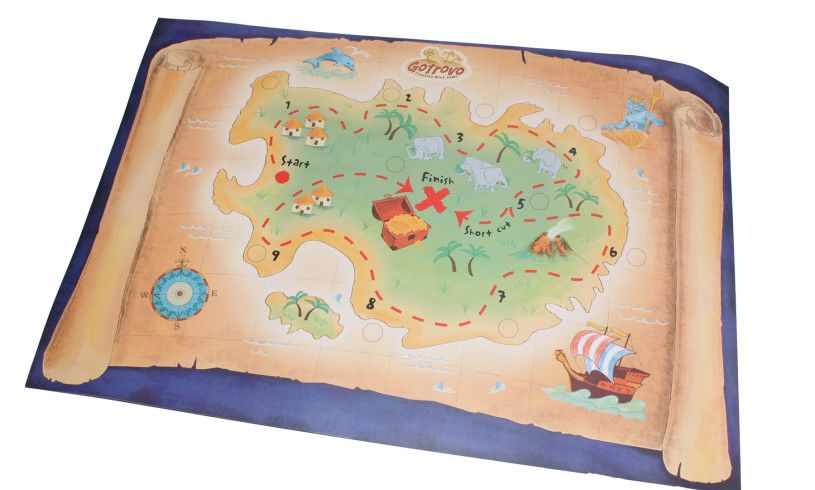 map included with treasure hunt game