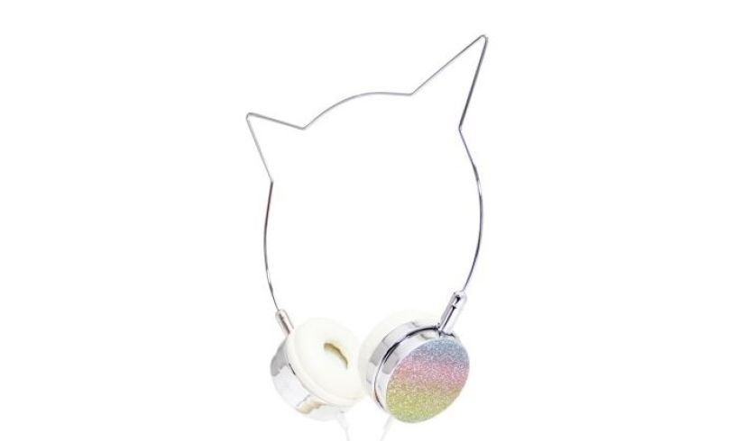 American Jewel Headphones - Rainbow Cat Detail