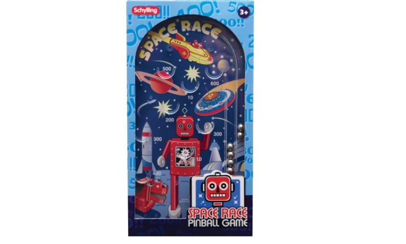 Space Race Pinball Game Box