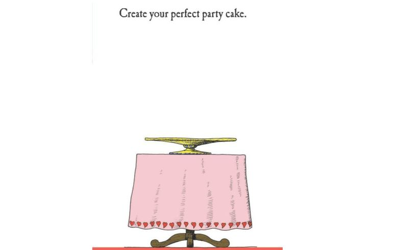 The Girls' Doodle Book Cake