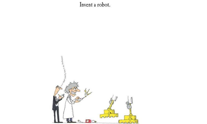 The Boys' Doodle Book Robot