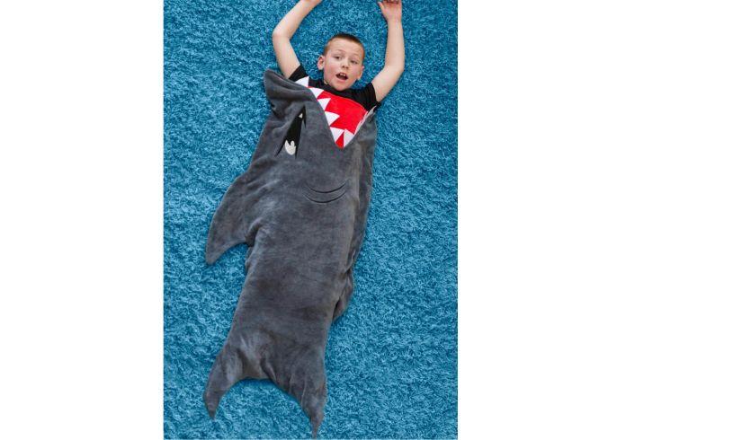 Harmless shark blanket fun