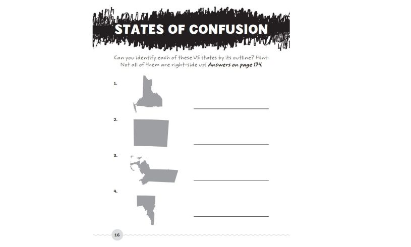 The Totally Hilarious All About America Activity Book Confusion