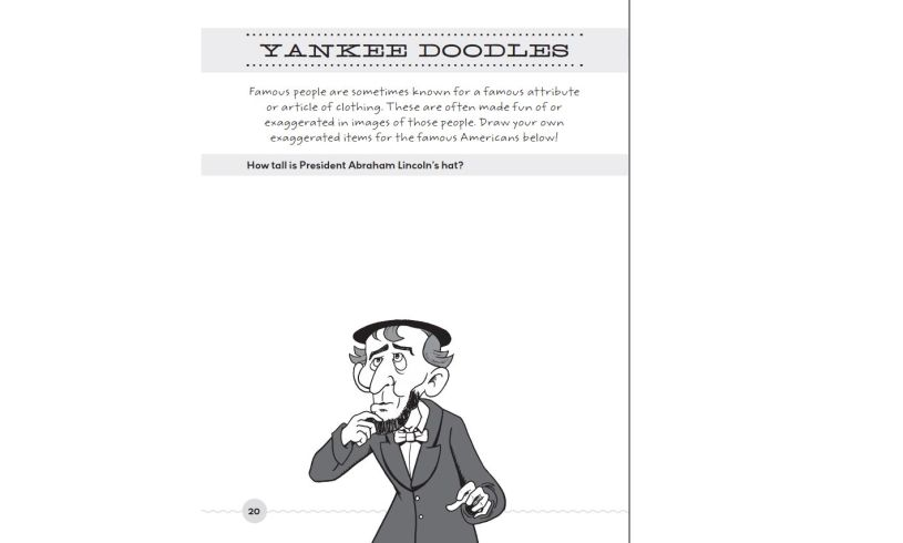 The Totally Hilarious All About America Activity Book Doodles