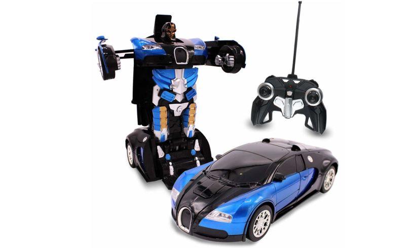 Auto Moto Transforming Robot Car display