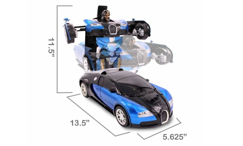 Auto Moto Transforming Robot Car measurements