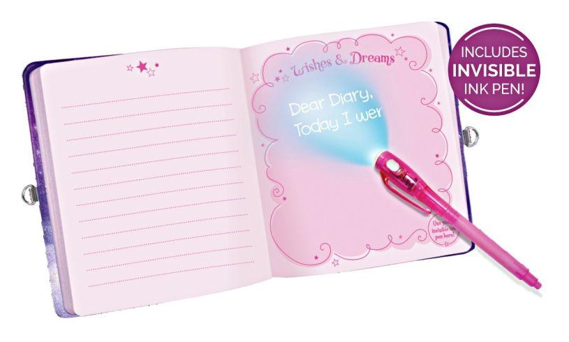 Unicorn Dreams Invisible Ink Diary Light
