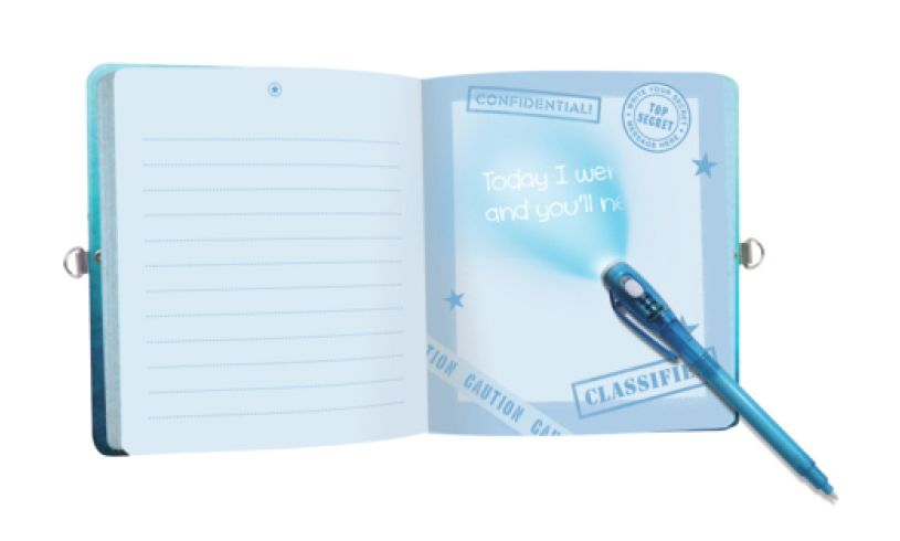 Top Secret Invisible Ink Journal Light