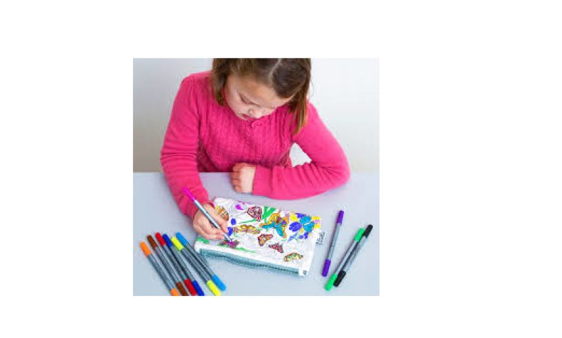 Butterfly Pencil Case Coloring
