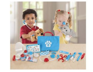 pet vet play set dog and cat