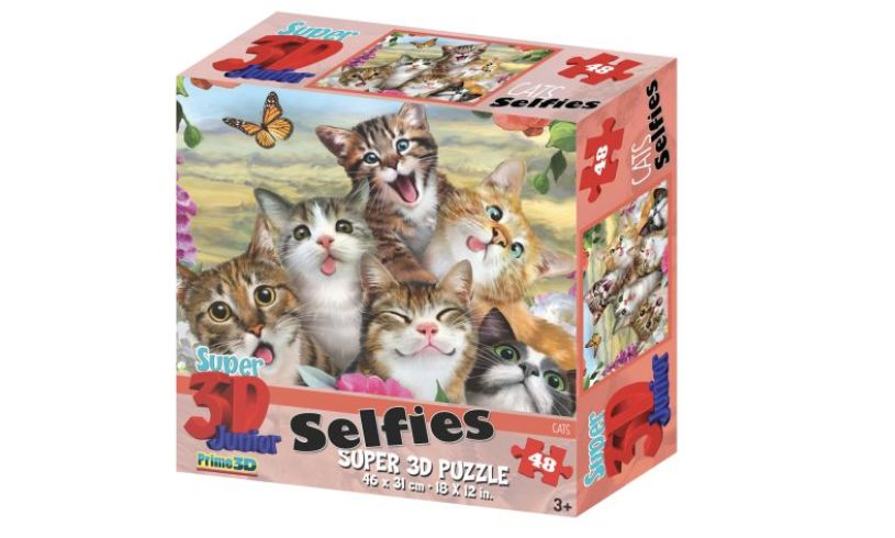 Box with Cat 3D Selfie puzzle