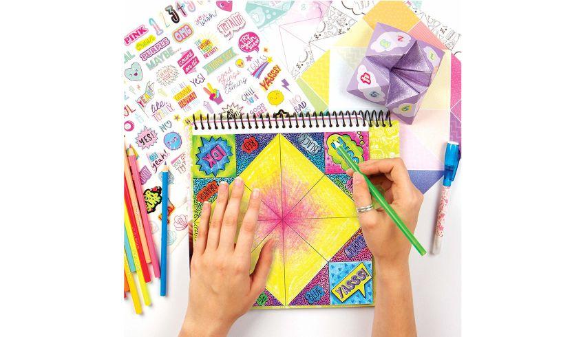 Secret Message Fortune Teller Kit Coloring