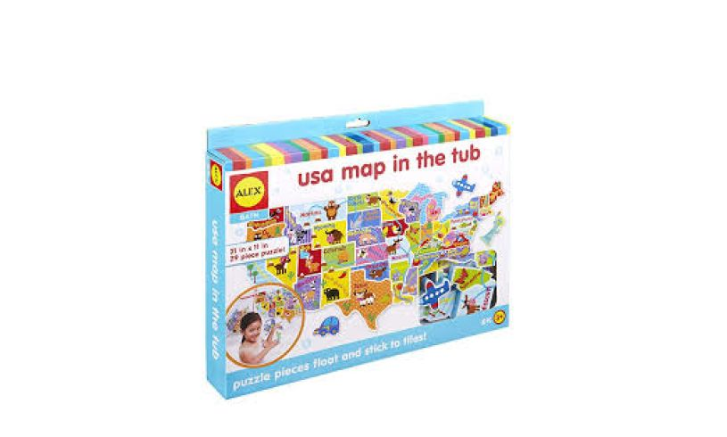 USA Map in the Tub Box