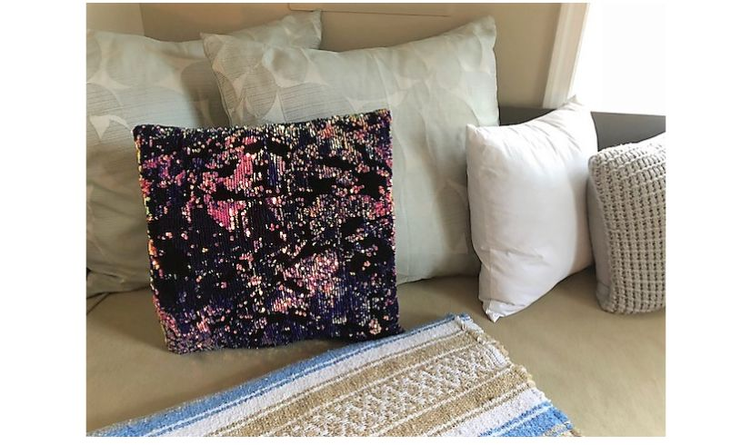 Scattered Magic Sequin Pillow Lifestyle