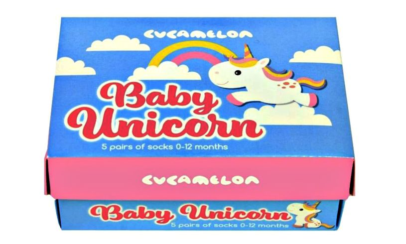 Baby Unicorn Socks Box